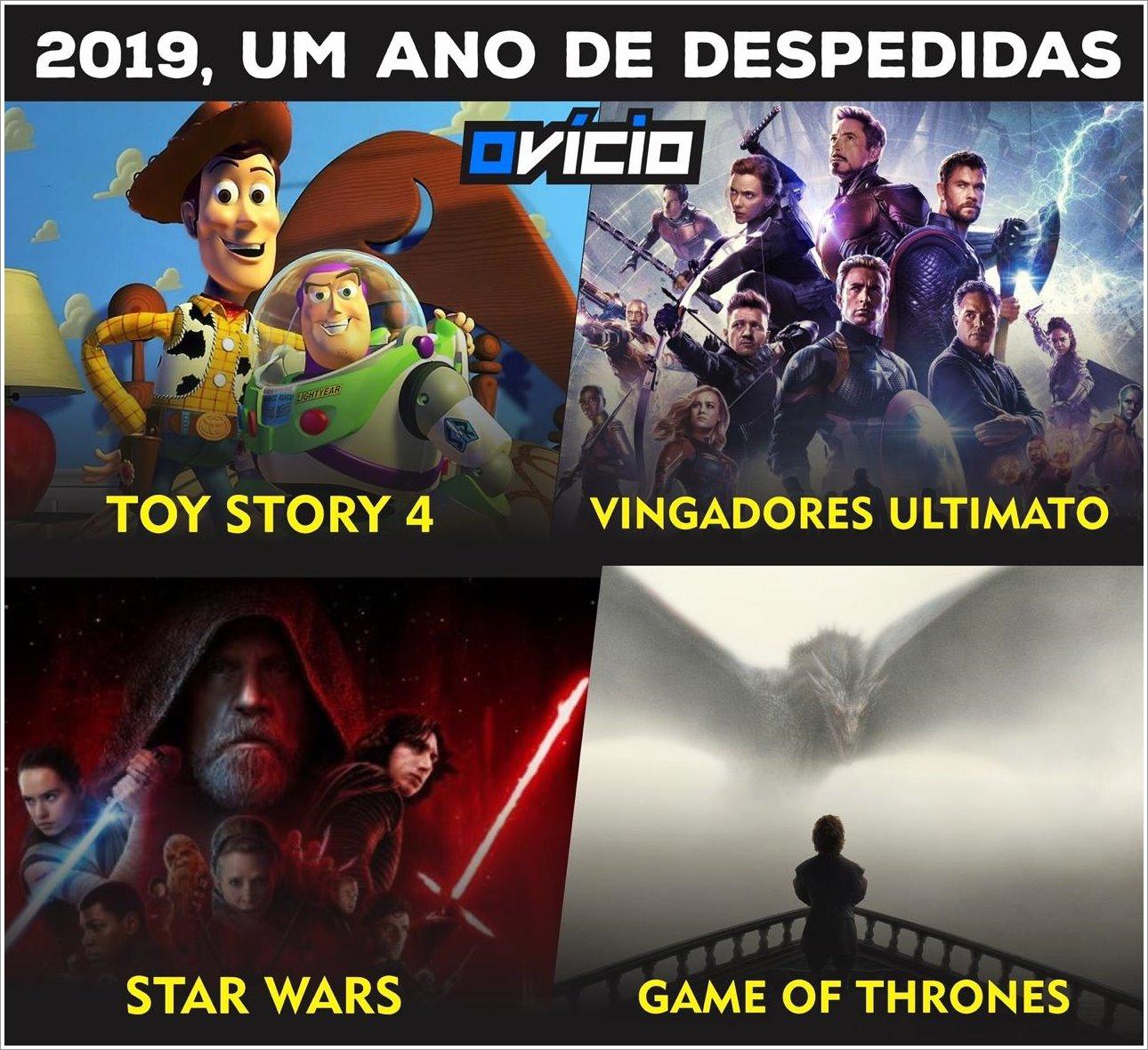 Alguns filmes que se despediram em 2019